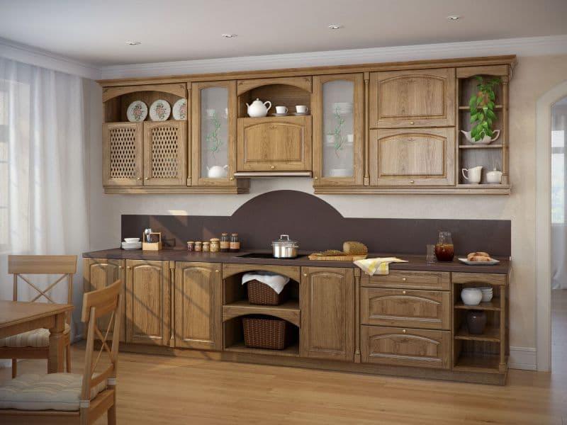 Кухонная мебель из дуба и ее преимущества