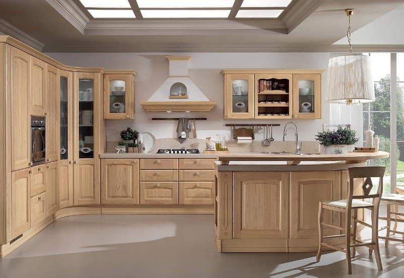 Кухонная мебель из дуба