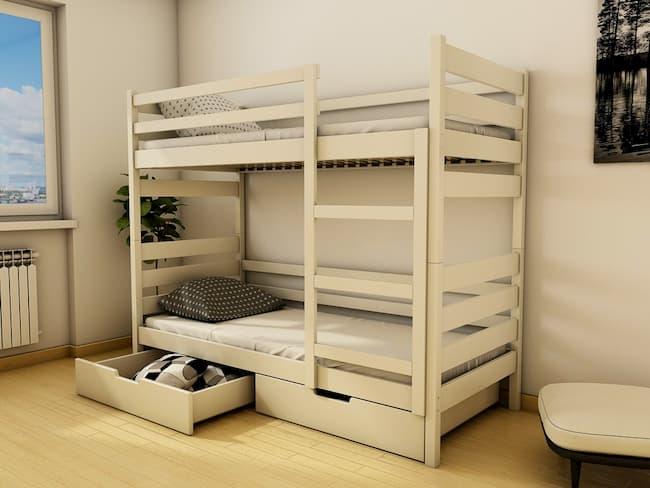 двоярусне ліжко з дерева