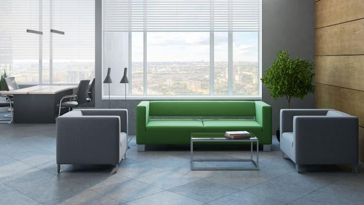 Мебель для посетителей в офисе