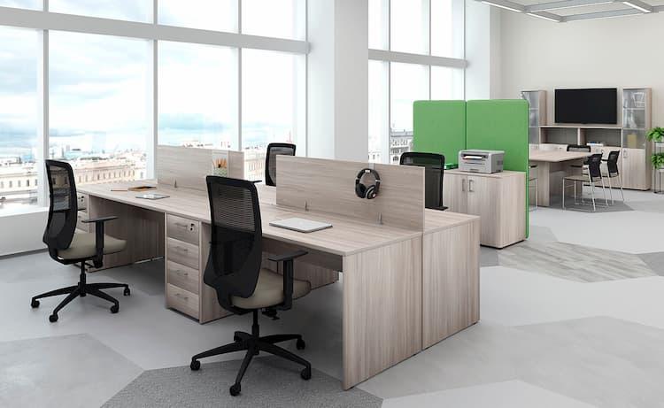 Мебель для сотрудников в офисе