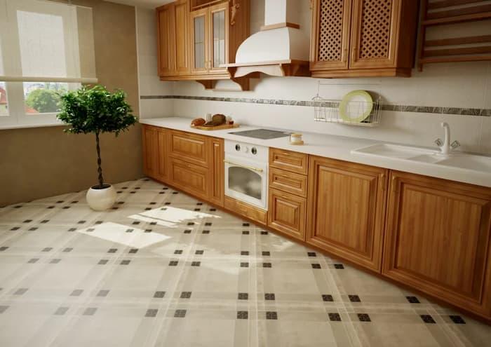 Какая плитка подойдет для пола на кухню
