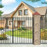 Ворота и ограждение дома