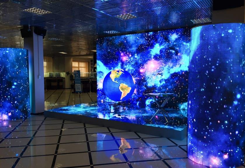 использование LED-экранов во внутреннем оформлении помещений