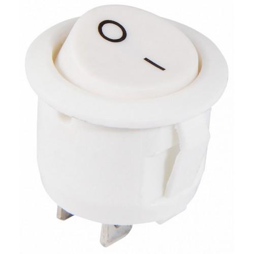 KCD1-5-101 WH/WH Перемикач 1 клав. круглий білий АСКО A0140040068