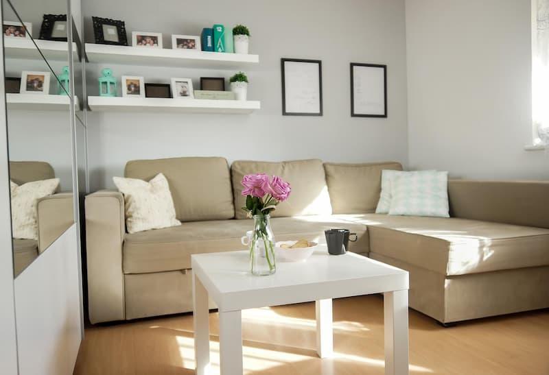 Комната с угловым диваном